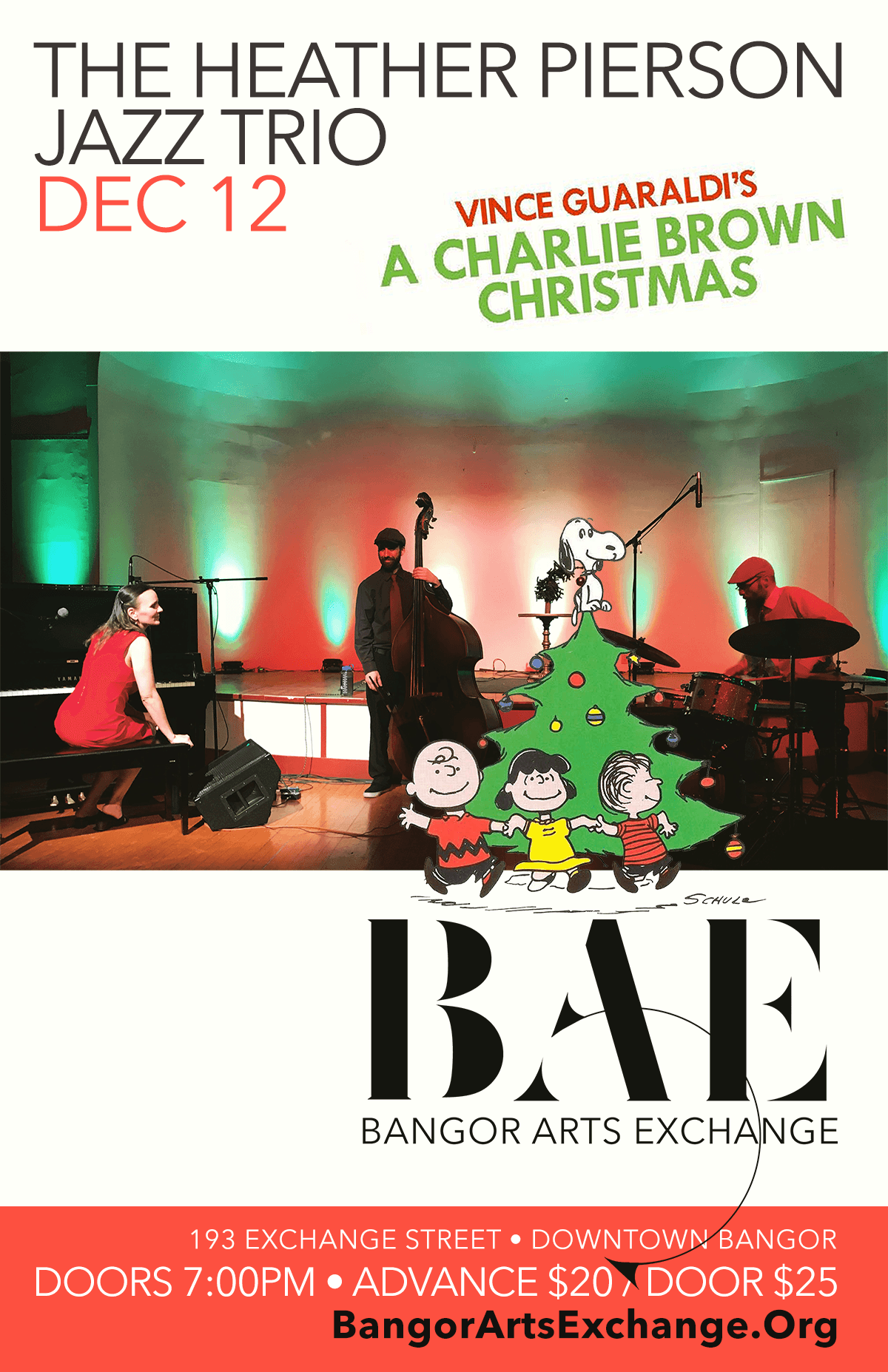 Charlie Brown Christmas Dec 2020 12/12/2020: Heather Pierson Jazz Trio performs A Charlie Brown