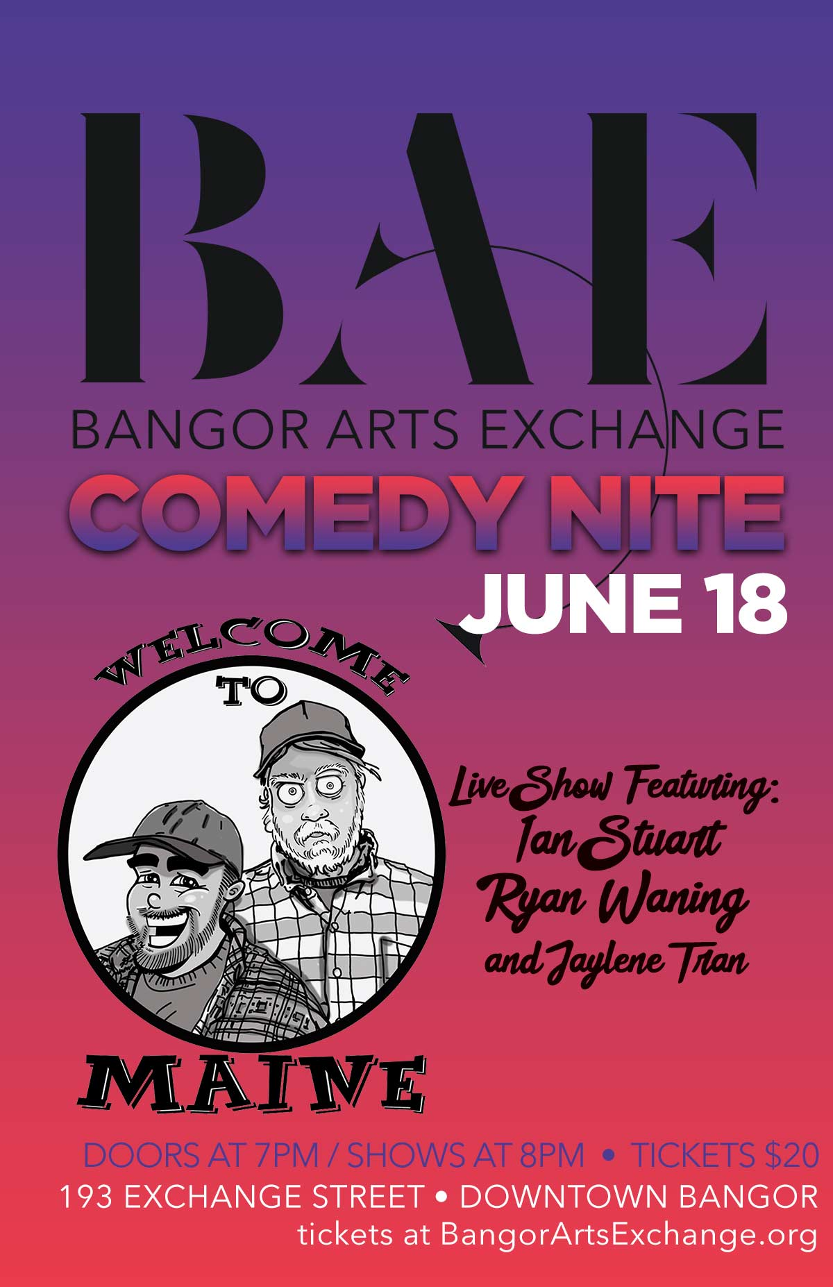 06/12/2021: Comedy Nite - Welcome to Maine: Live!